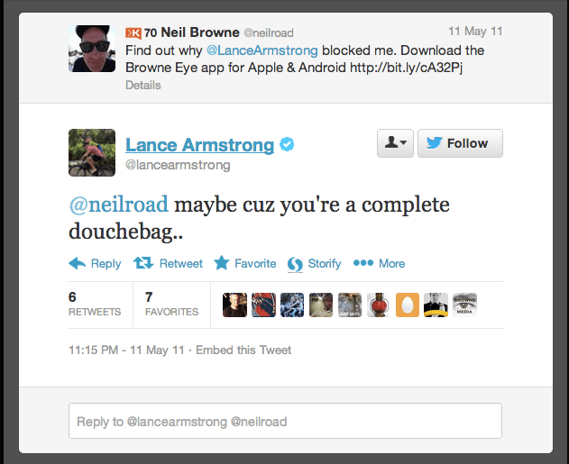 The Armstrong Twitter Spat